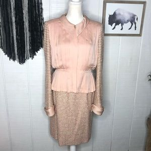 RARE 1960s CHANEL Couture Tweed Wool and silk set